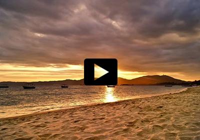 视频:海岛霞光